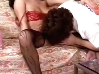 German Brown-haired In Designer Stockings Just Cant Get Enough