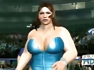 Antique Virtual Fighting - Melissa (milky Garment) Vs Barbi (blue...