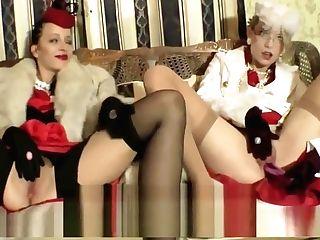 Stylish Old-school Lesbo Ladies Lengthy Fox Wool Satin Sundress